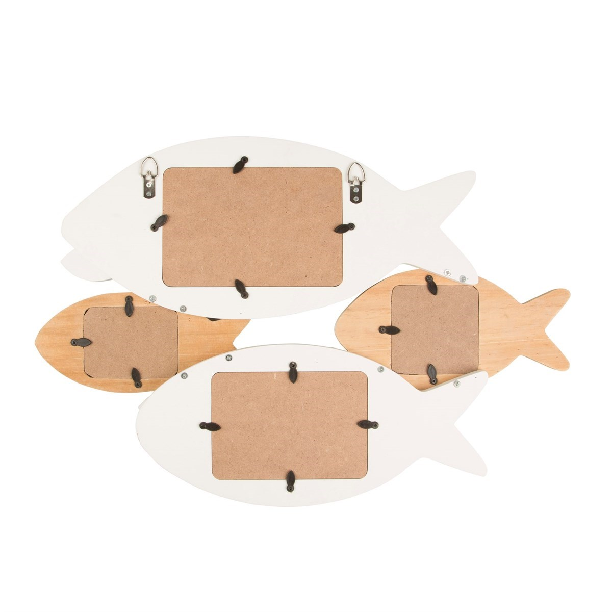 Rustic fish multi wall photo frame for Fish photo frame