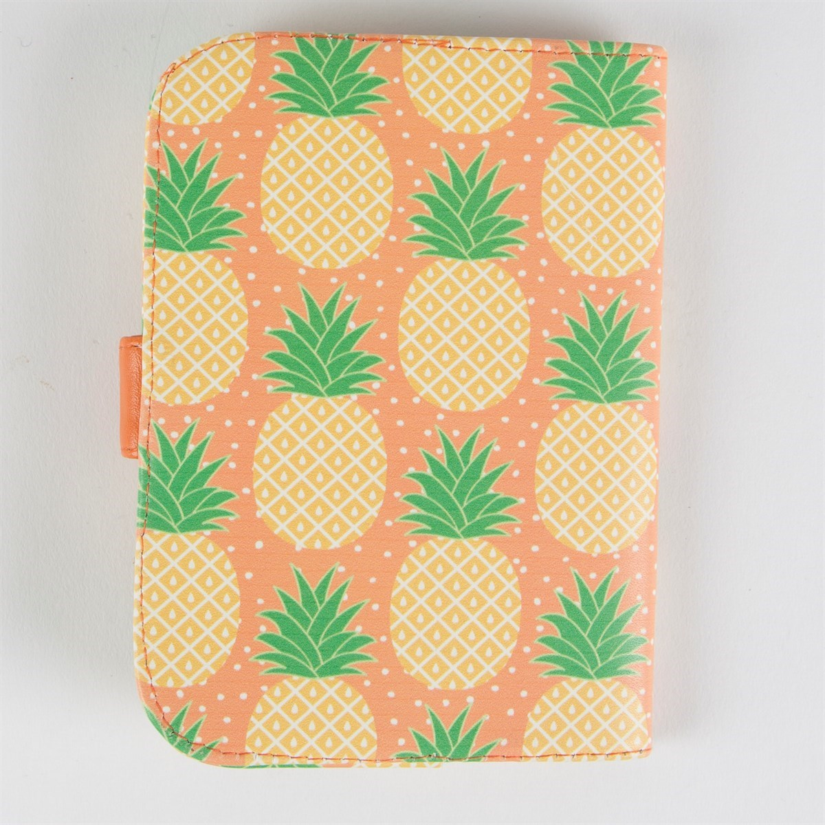 Golden Yellow Metal Kitchen Cart Movable Painted Vintage 50s: Tropical Pineapple Passport Holder
