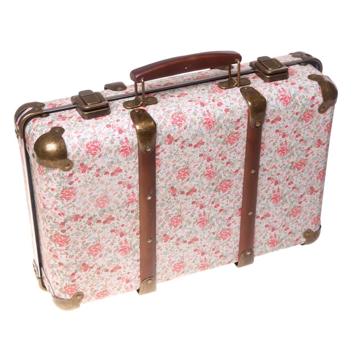 vintage floral suitcase roses. Black Bedroom Furniture Sets. Home Design Ideas