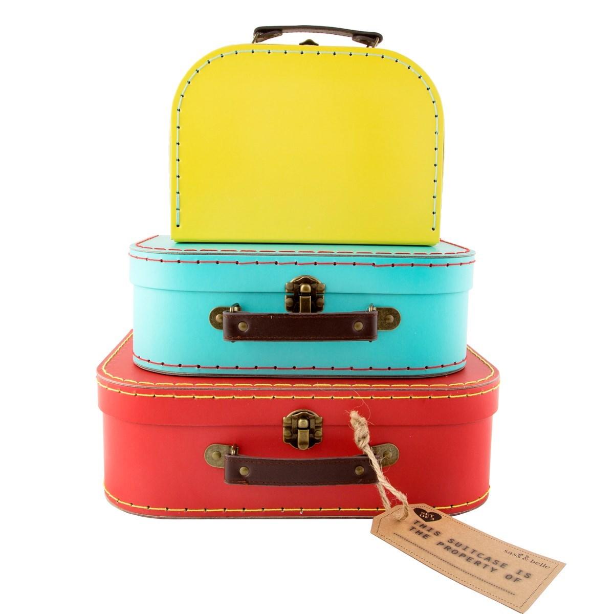 Brights Retro Suitcases - Set of 3
