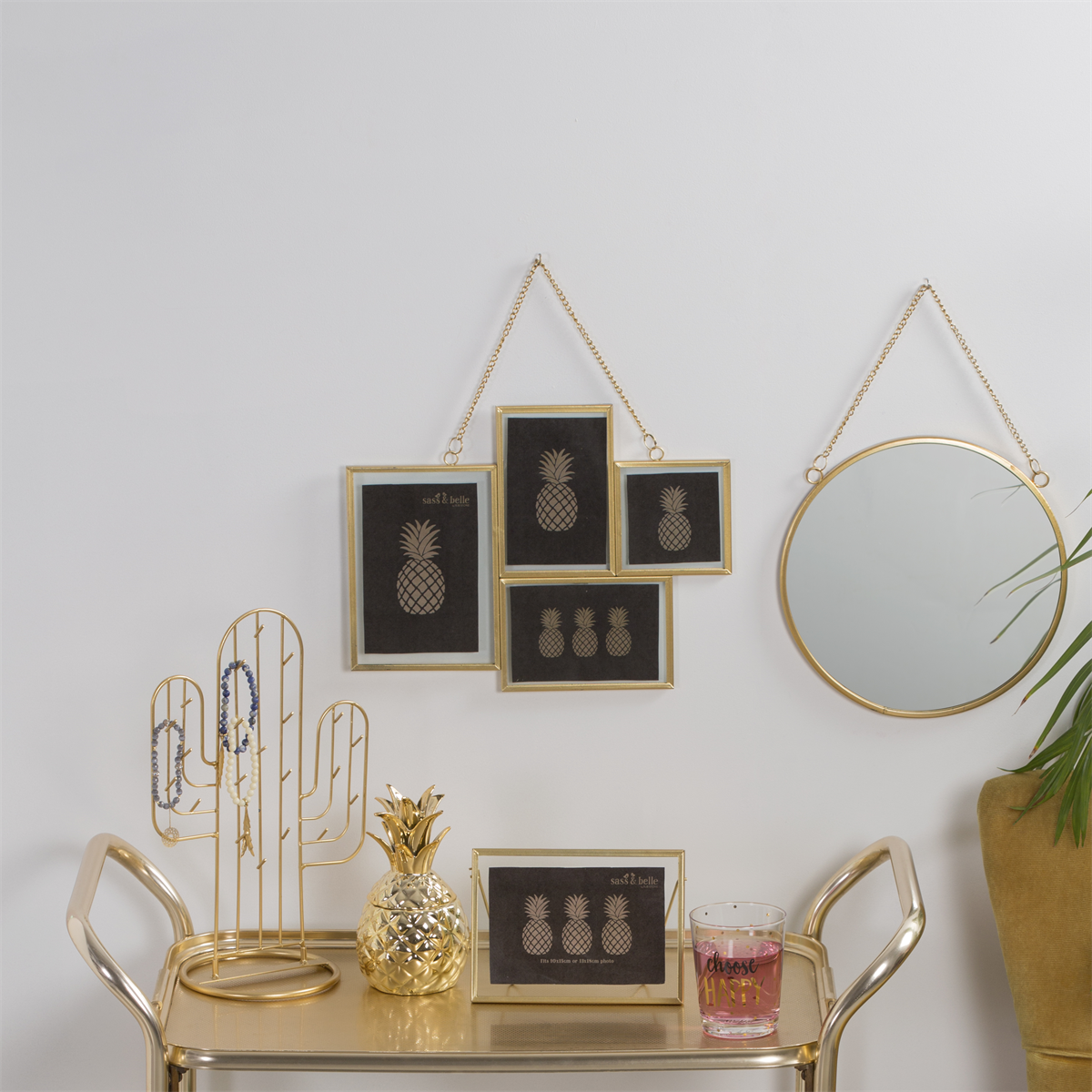 Touch Of Gold Multi Hanging Photo Frame