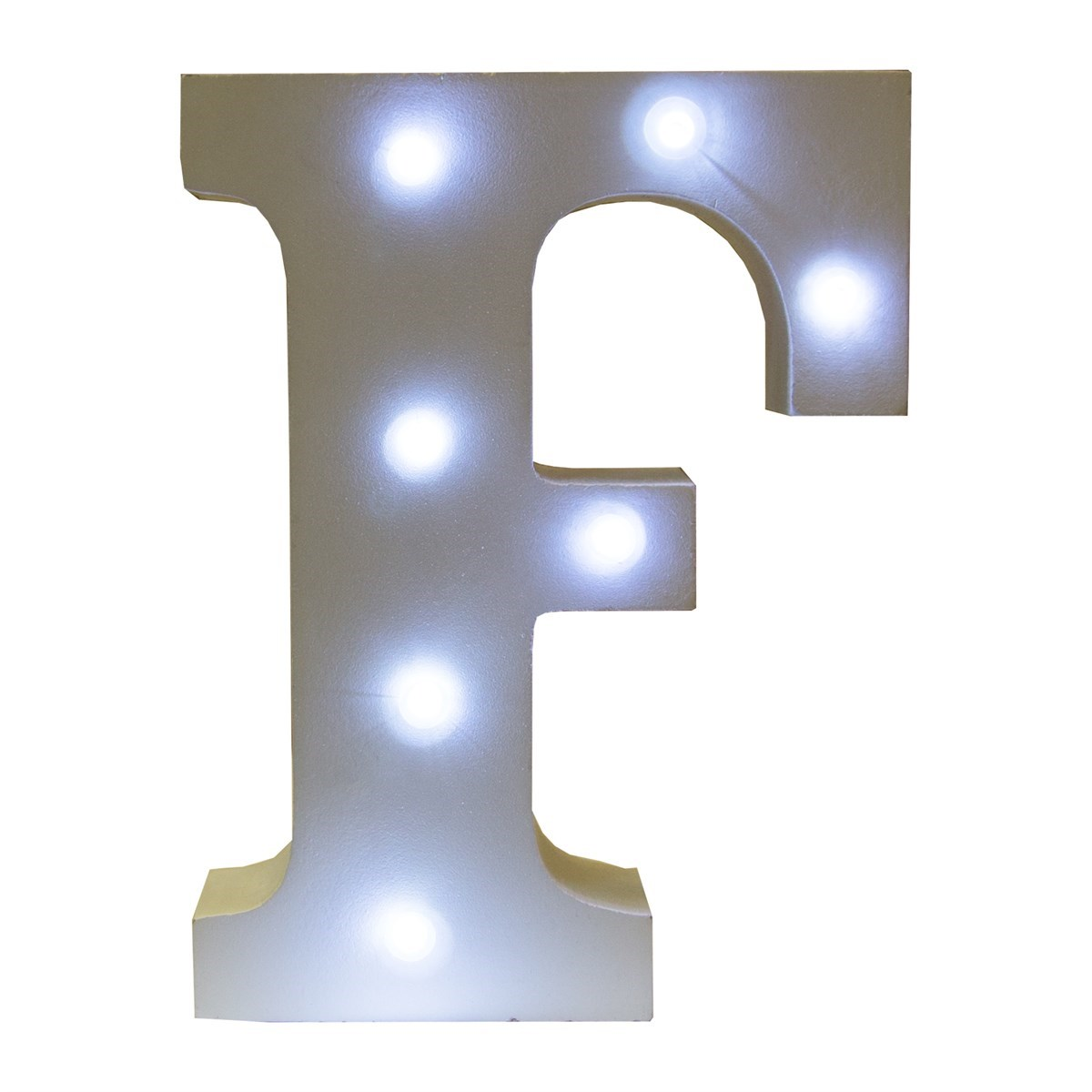 Alphabet led light decoration letter f for Letter f decoration