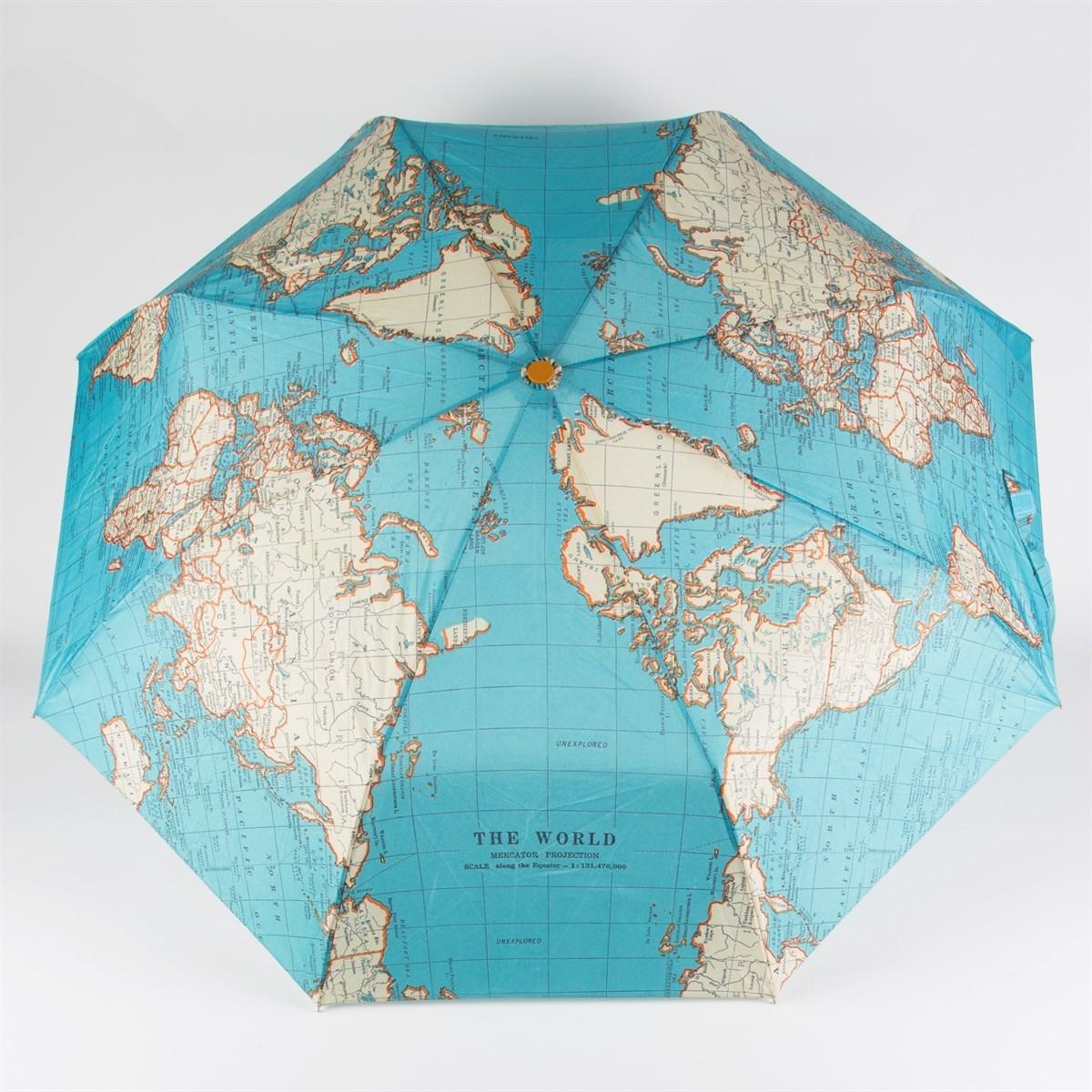 Vintage map folding umbrella vintage map folding umbrella alternative image 3 gumiabroncs Images