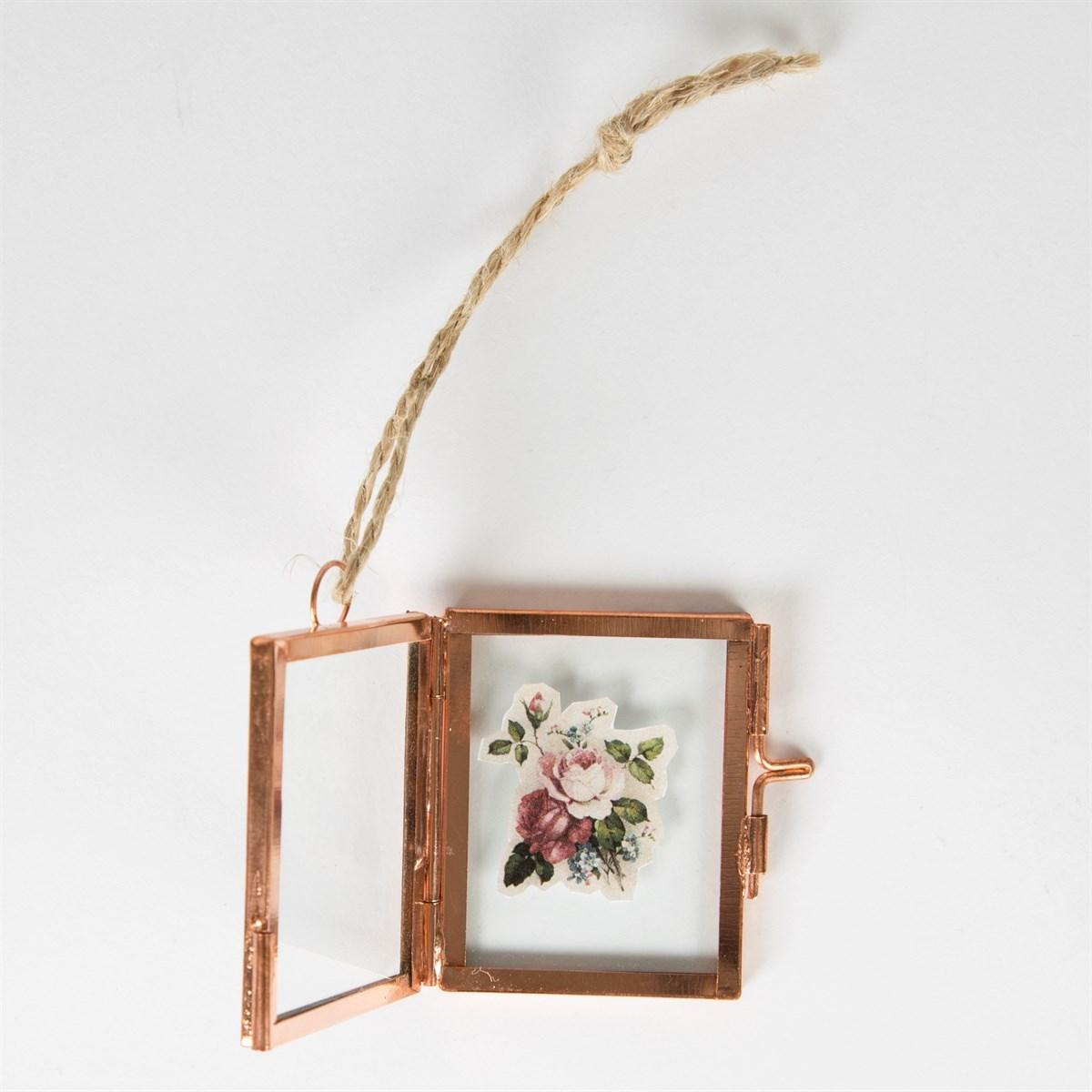 Copper Finish Mini Hanging Photo Frame