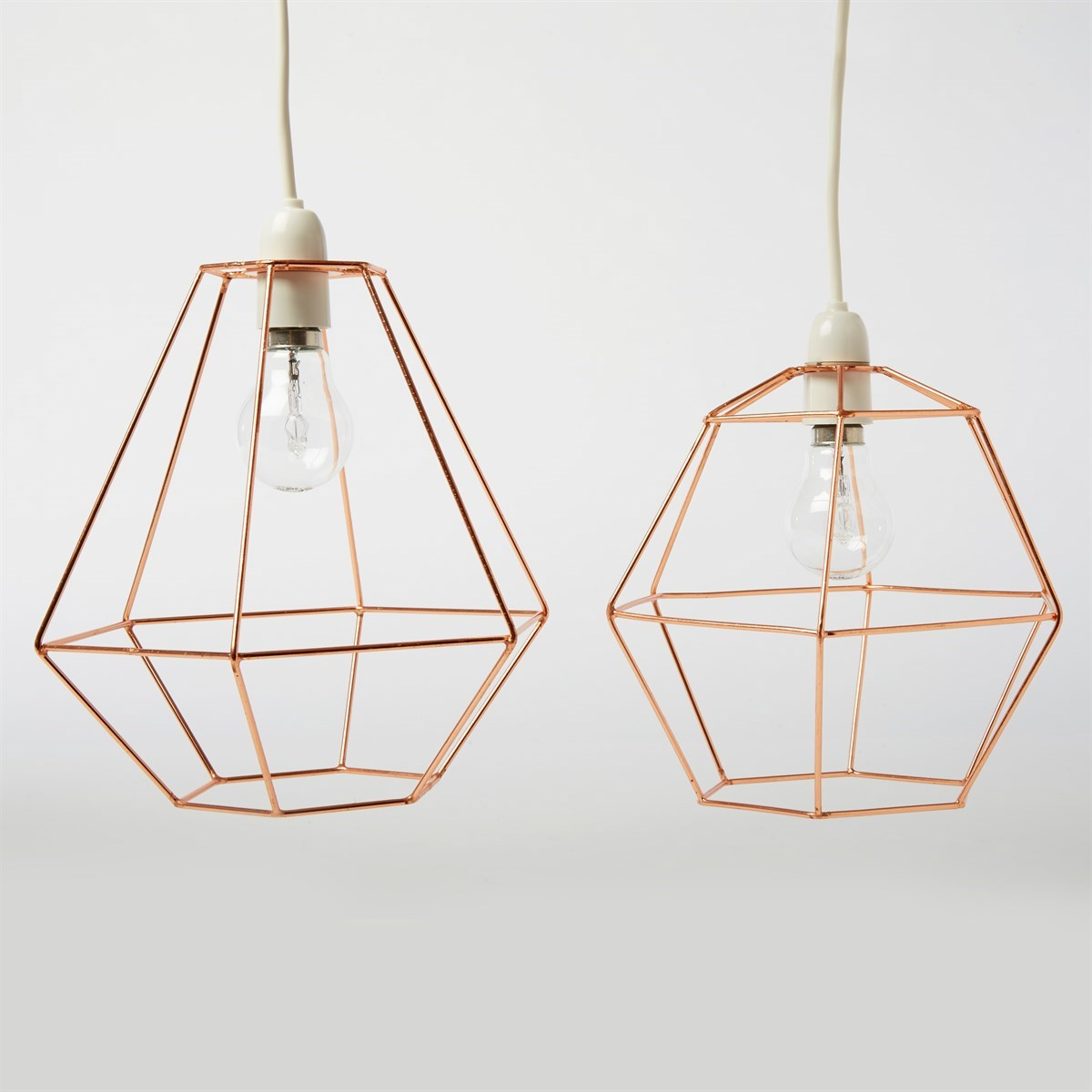 Copper Wire Hexagon Lampshade