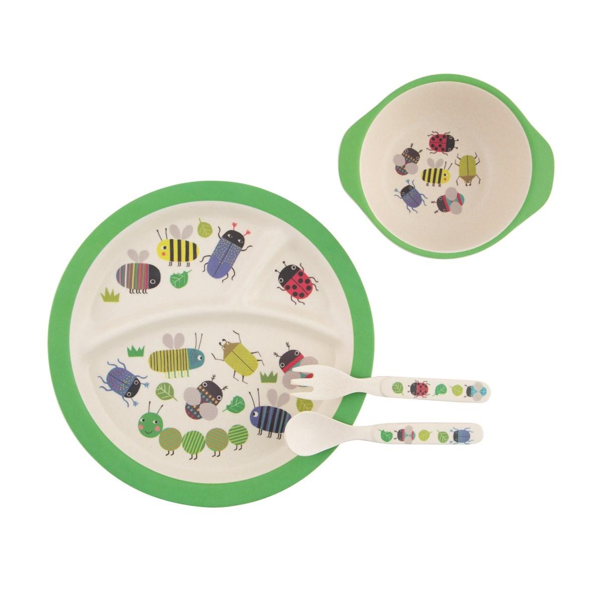 /ZOE006 Busy Bugs Kids Fork /& Spoon Set