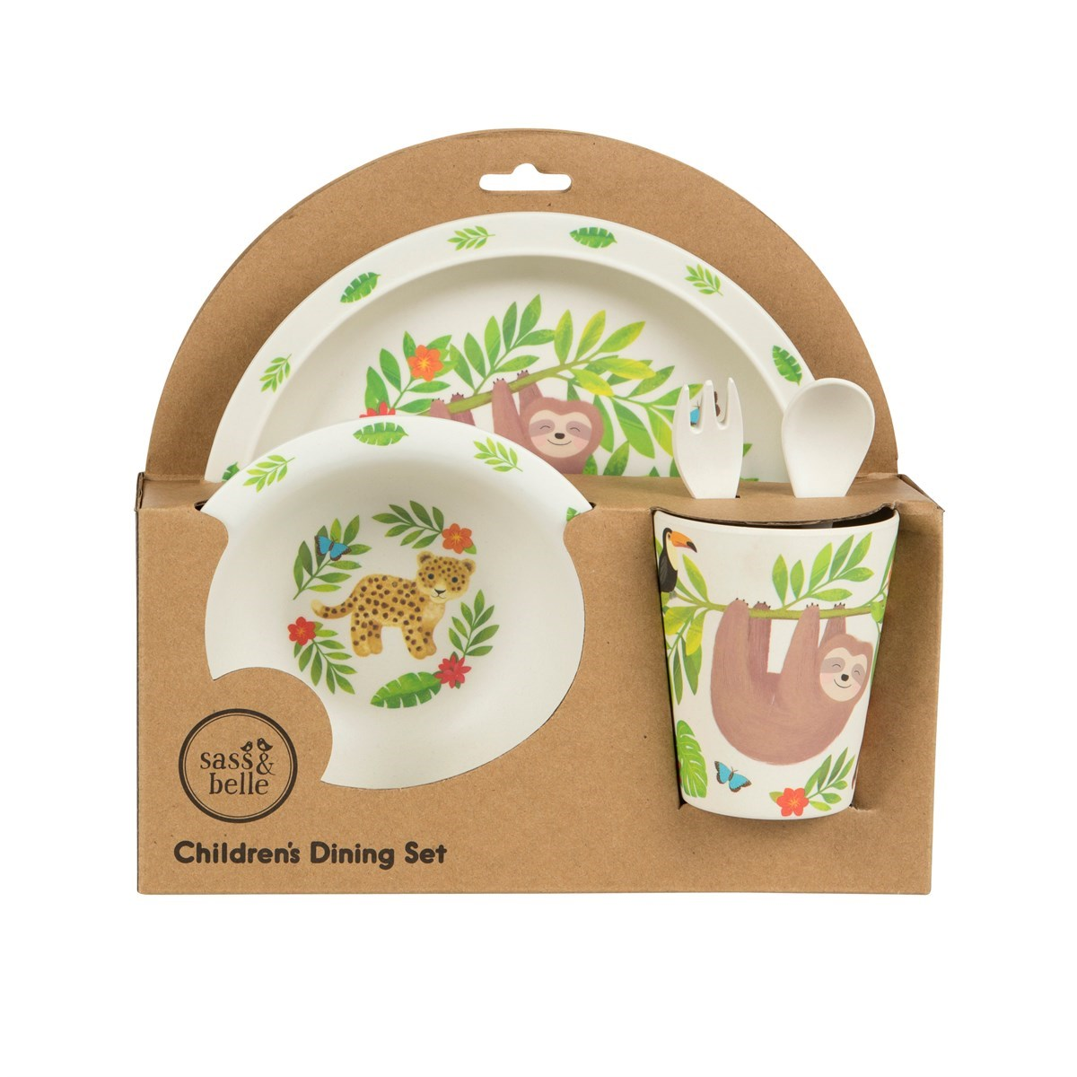 Sloth and Friends Bamboo Tableware Set Alternative Image 2.  sc 1 st  Sass and Belle & Sloth and Friends Bamboo Tableware Set