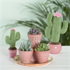Mini Pink Planters - Set of 3 Alternative Image 1