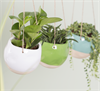 Green Dip Glaze Hanging Planter Alternative Image 1