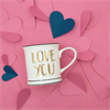 Gold Love You Mug Alternative Image 2