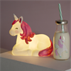 Rainbow Unicorn Mini Milk Bottle with Straw Alternative Image 1