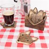 Wooden Fox Coasters - Set of 6 Alternative Image 2