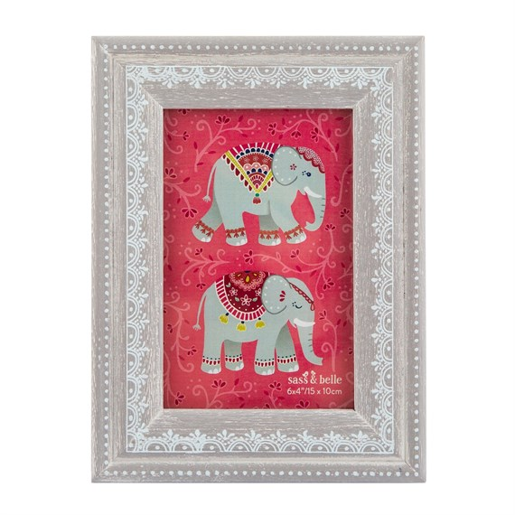 Mandala Elephant Standing Photo Frame
