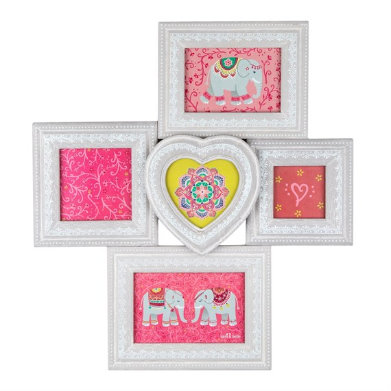Mandala Elephant Five Multi Photo Frame