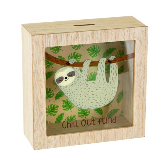 Sloth Chill Out Money Box