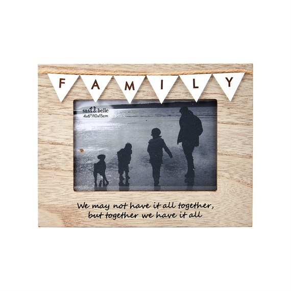 Vintage Bunting Family Photo Frame