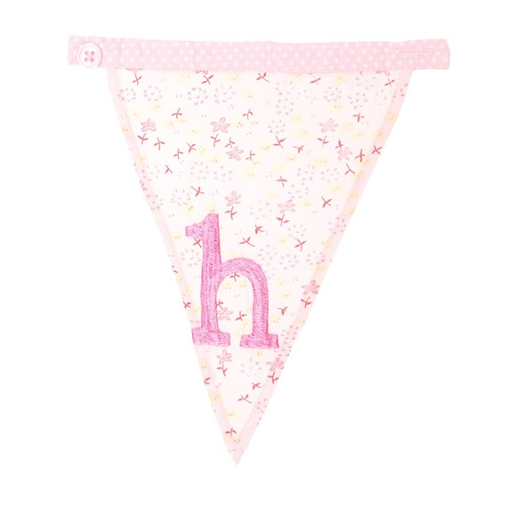 H Ditsy Single Alphabet Bunting
