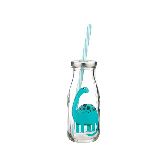 Roarsome Dinosaurs Mini Milk Bottle with Straw