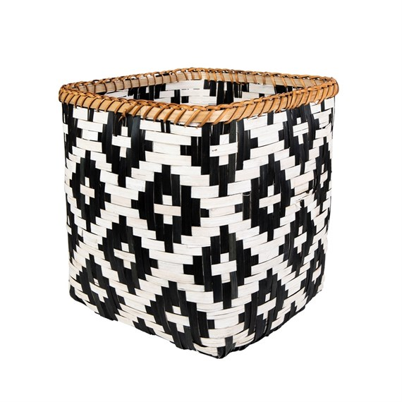 Small Tribal Pattern Bamboo Storage Basket