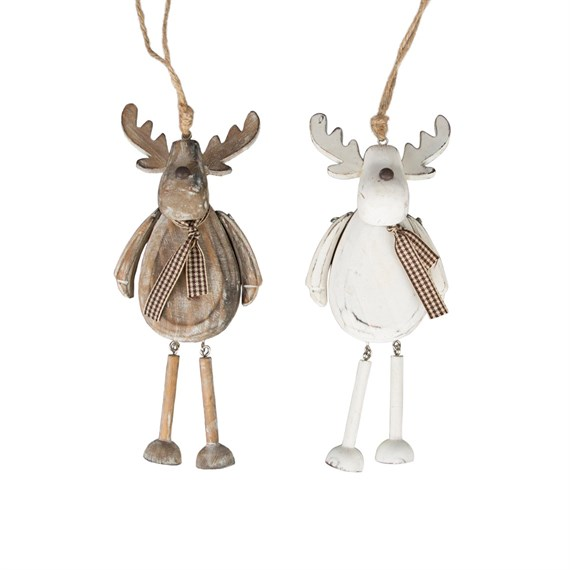 Rustic Reindeer Hanging Decoration - 1 Piece