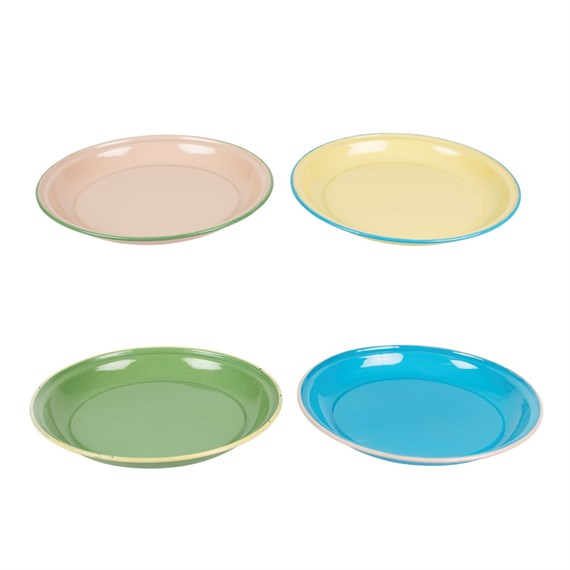 Two Tone Retro Enamel Camping Plate  (options available)