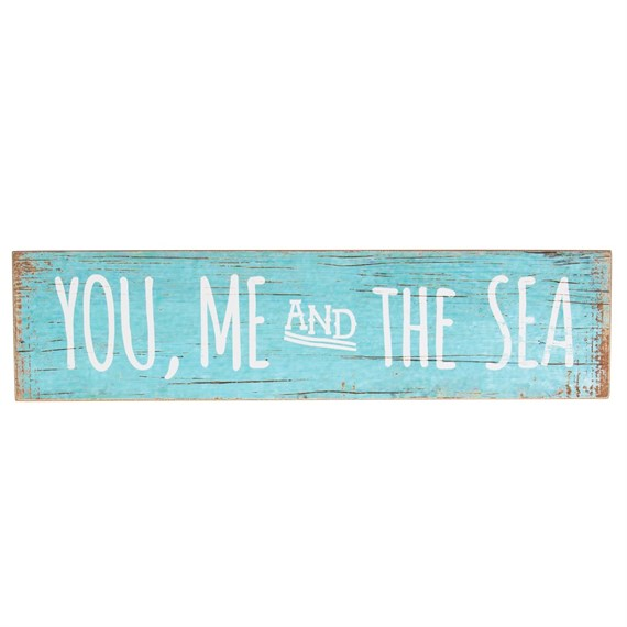 You Me the Sea Coastal Chic Driftwood Sign