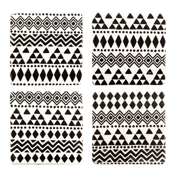 Scandi Boho Geo Coasters - Set of 4