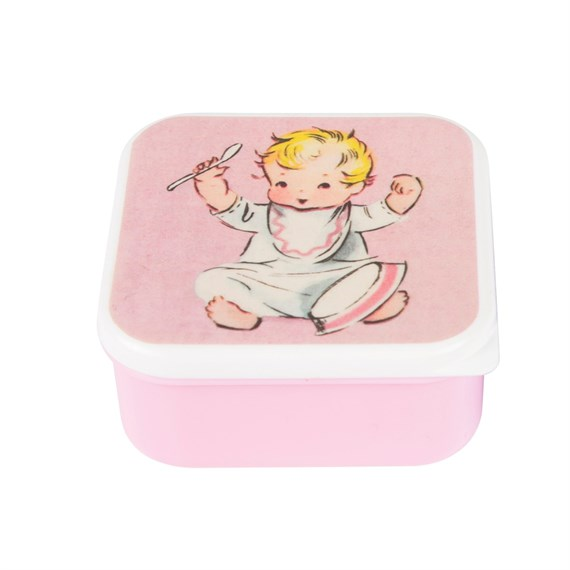 Pink Vintage Nursery Square Snack Box