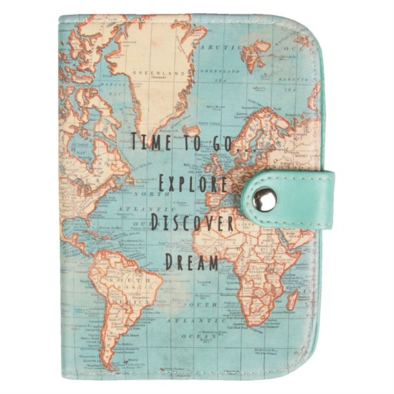 Vintage map time to go passport holder gumiabroncs Gallery