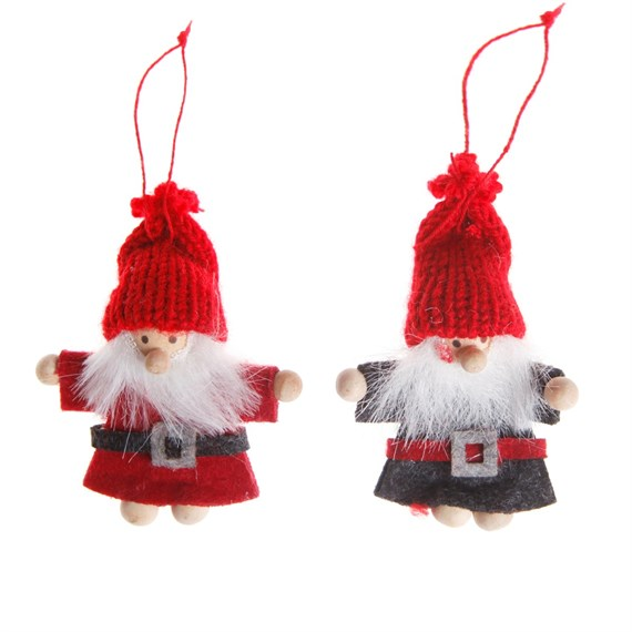 Santa Felt Hanging Decoration - 1 Piece