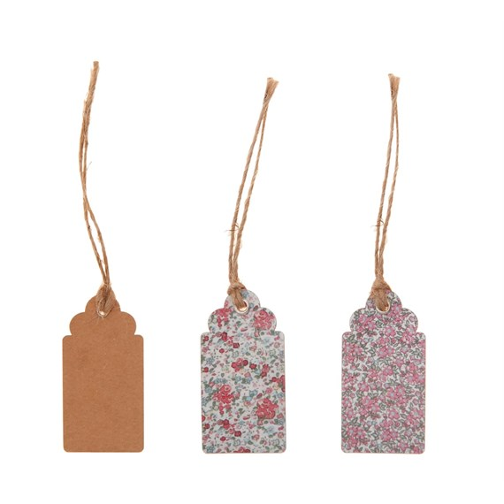 Set of 15 Floral Gift Tags