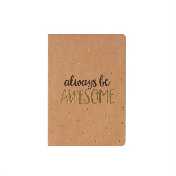 Always Be Awesome Metallic Monochrome Pocket Notebook