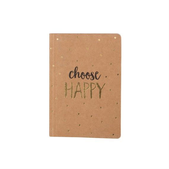 Choose Happy Metallic Monochrome Pocket Notebook