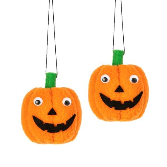 Set of 2 Pumpkin Halloween Hanging Decorations