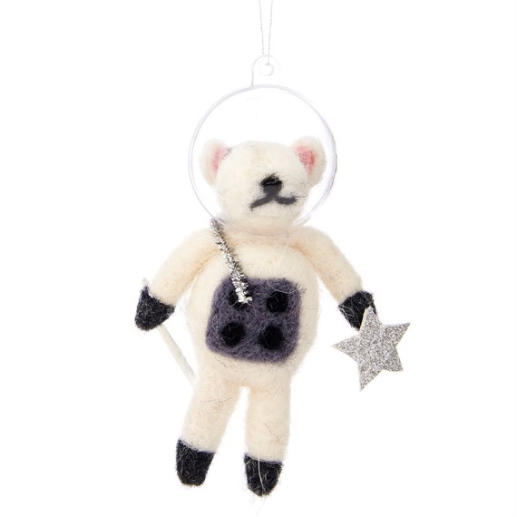Outer Space Mouse Hanging Felt Decoration