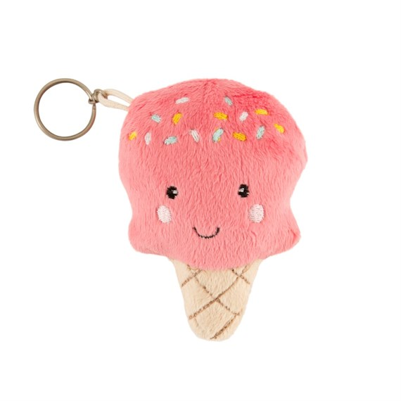 Happy Ice Cream Plush Bag Charm
