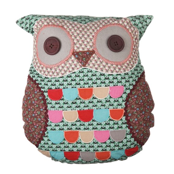 Jimmy Green Owl Cushion