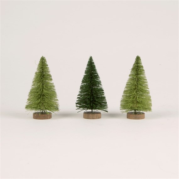 Mini Christmas Trees - Set of 3
