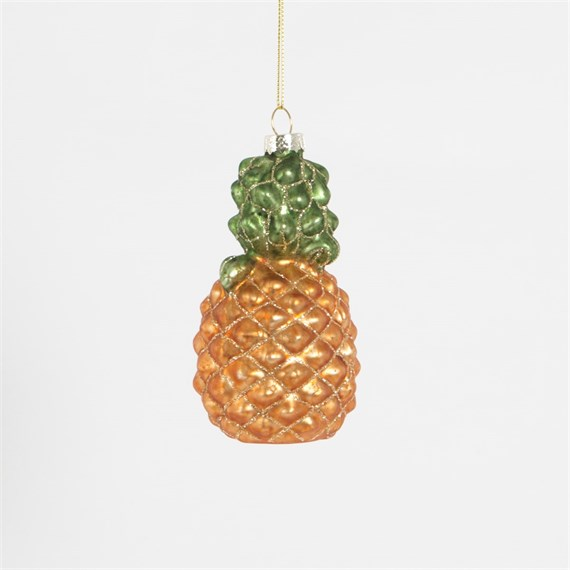 Glitzy Pineapple Shaped Bauble