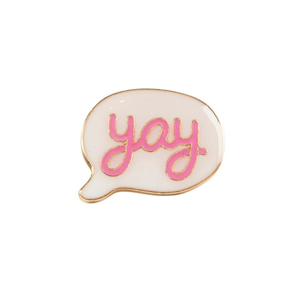 Pink Yay Speech Bubble Pin Fashion Accessory