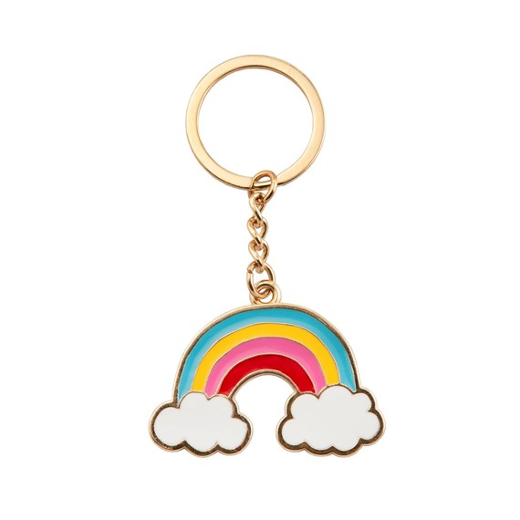 Over the Rainbow Enamel Keyring