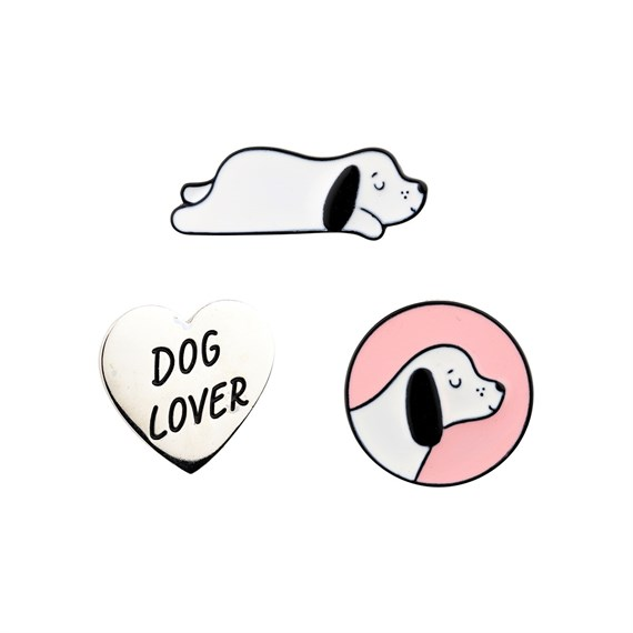 Barney The Dog Pin Fashion Accessories - Set of 3