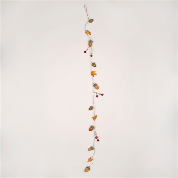 Winter Leaves & Acorns Garland