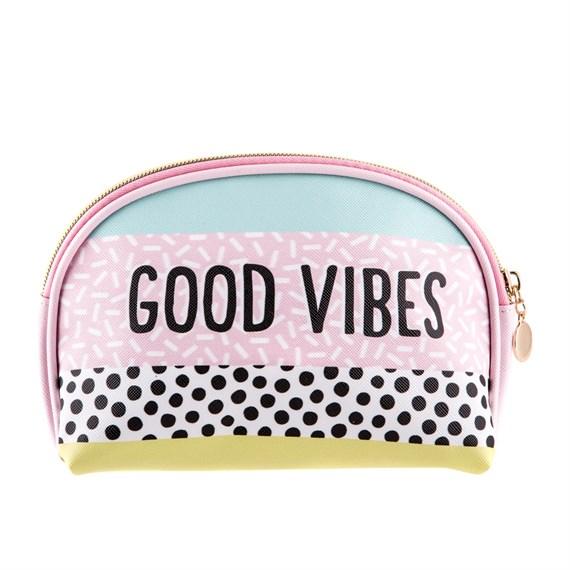 Memphis Modern Good Vibes Cosmetic Bag