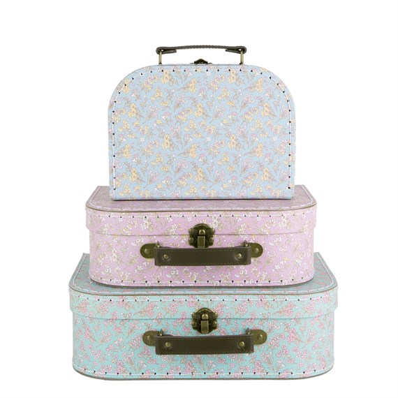 Set of 3 Grace Floral Suitcases