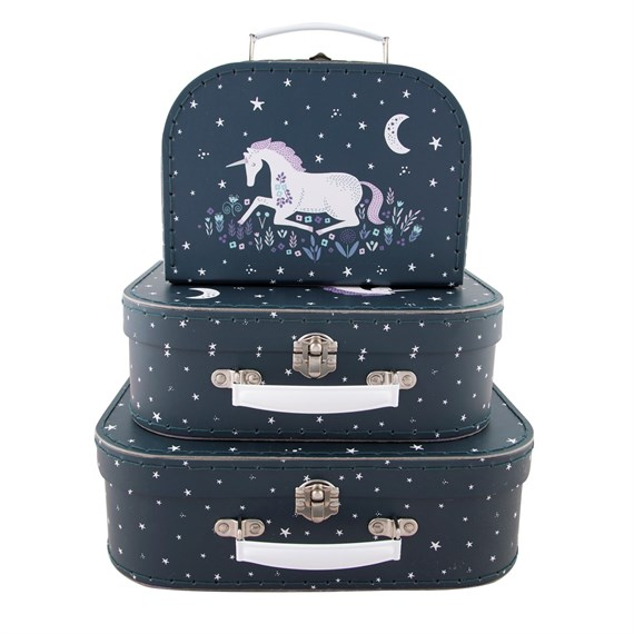 Starlight Unicorn Suitcases - Set of 3