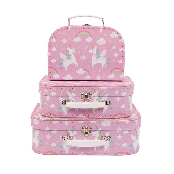 Rainbow Unicorn Suitcases - Set of 3