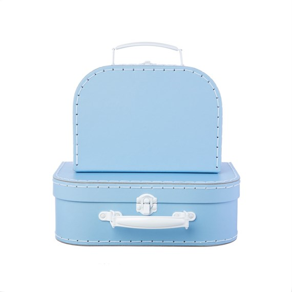 Pastel Blue Suitcases - Set of 2