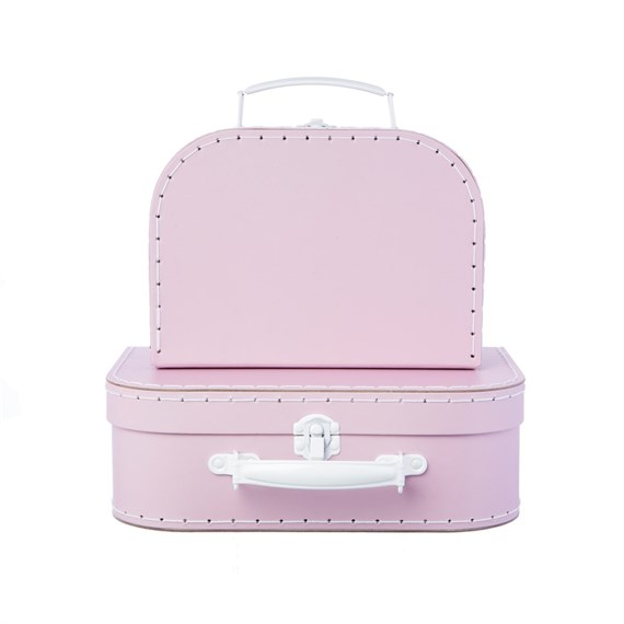 Pastel Pink Suitcases - Set of 2