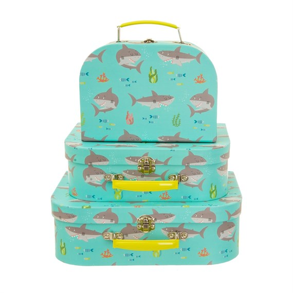 Shelby The Shark Suitcases - Set Of 3